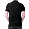 Image of India Flag Polo T-Shirt Black