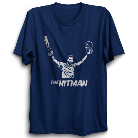CRIC 34- The Hitman-Half Sleeve Navy Blue