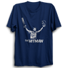 Image of CRIC 34- The Hitman-Half Sleeve Navy Blue