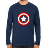 Image of Captain America logo Full Sleeve Navy Blue