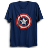 Image of Captian America logo Half Sleeve Navy Blue