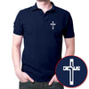 Image of Holy Cross - Polo T-shirt Navy Blue