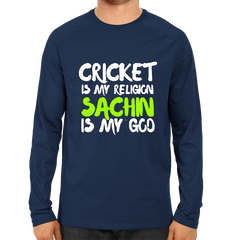 CRIC 05- Cricket Is My Religion -Full Sleeve-Navy Blue