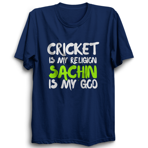 CRIC 05- Cricket Is My Religion -Half Sleeve-Blue