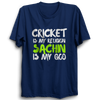 Image of CRIC 05- Cricket Is My Religion -Half Sleeve-Blue