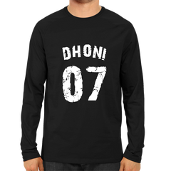 CRIC 08- Dhoni 07 -Full Sleeve-Black