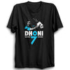 Image of CRIC 55- Dhoni 07(2)-Half Sleeve-Black