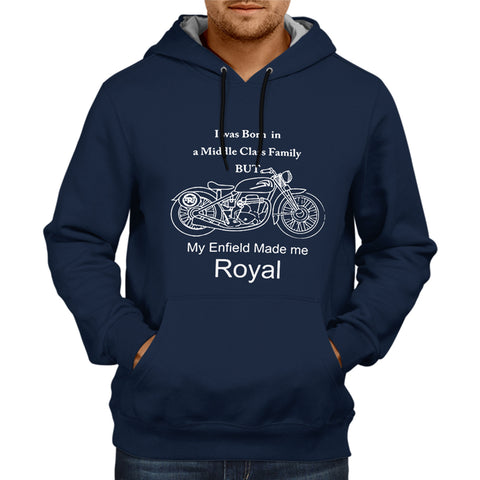 My Enfield Made Me Royal - Navy Blue Hoodie