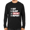 Image of CRIC 39- Eat Sleep Cricket Repeat 2-Full Sleeve-Black