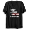 Image of CRIC 39 - Eat Sleep Cricket Repeat 2 -Half Sleeve-Black