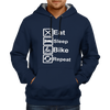 Image of Eat Sleep Bike Repeat - Navy Blue Hoodie