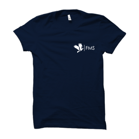 FMS Logo Half Sleeve- Navy Blue