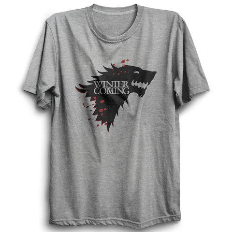 GOT-29 Winter Is Coming Half Sleeve Grey