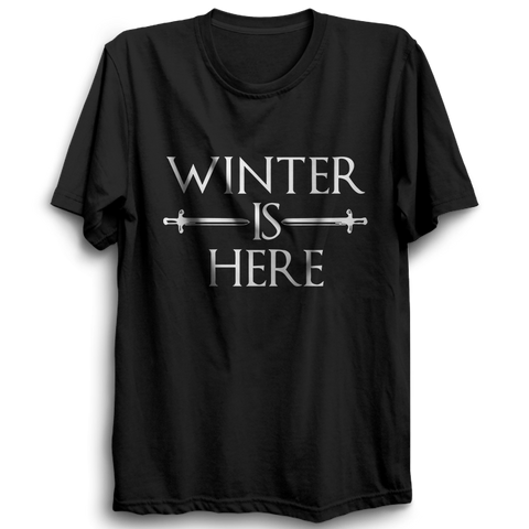 GOT-53 Winter Is Here Half Sleeve Black