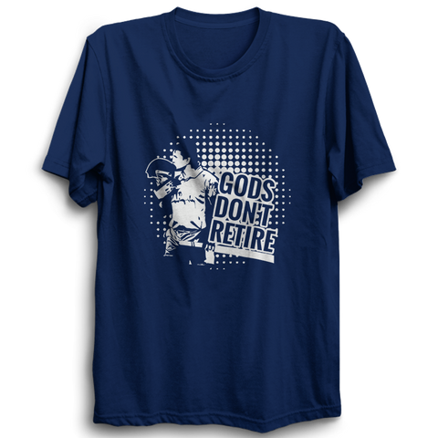 CRIC 15- God Don't Retire -Half Sleeve-Blue