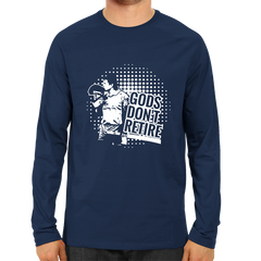 CRIC 15- God Don't Retire -Full Sleeve-Navy Blue