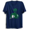 Image of Green Lantern Face Half Sleeve Navy Blue