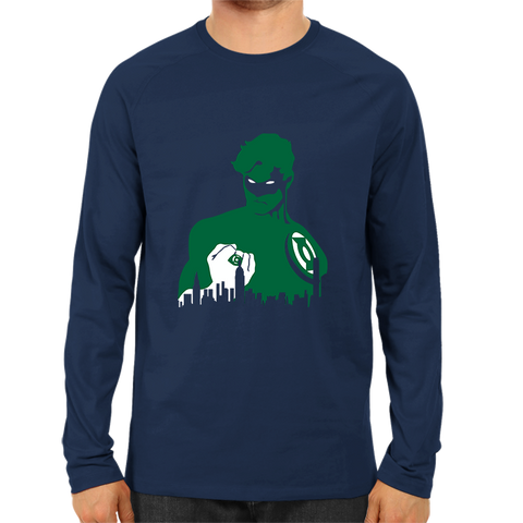 Green Lantern Face Full Sleeve Navy Blue
