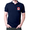 Image of HDFC Logo Polo T-shirt- Navy Blue
