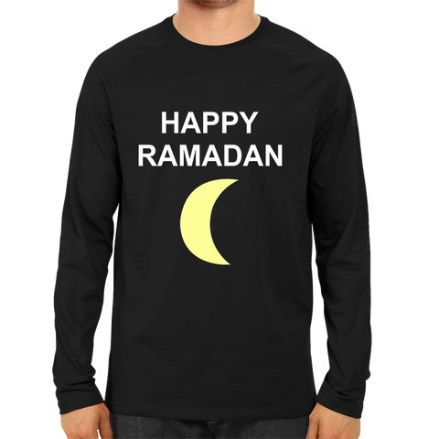 Happy Ramadan Full Sleeve-Black