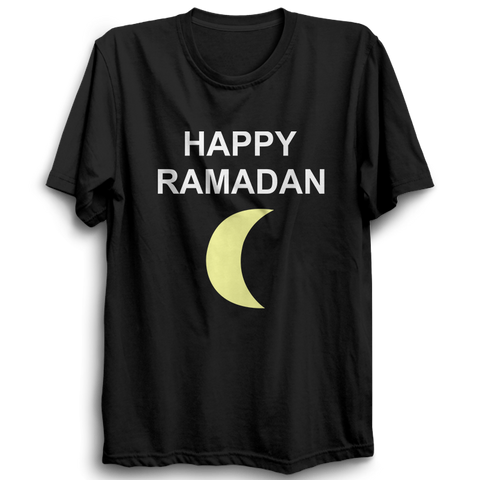 Happy Ramadan Half Sleeve Black