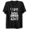 Image of I Love Indian Army Half Sleeve Black