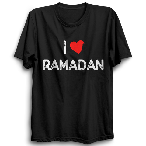 I Love Ramadan Half Sleeve Black