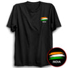 Image of India Flag Half Sleeve Black