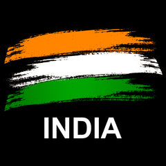 India Flag Half Sleeve Black