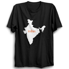 India Map Indian Half Sleeve Black