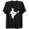 Image of India Map Indian Half Sleeve Black