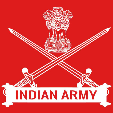 Indian Army Logo Polo T-Shirt Red