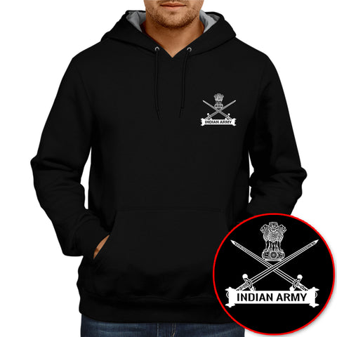 Indian Army Logo Hoodie -Black