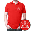 Image of Indian Army Logo Polo T-Shirt Red