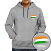 Image of India Flag Hoodie -Grey