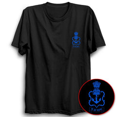 Indian Navy Logo Half Sleeve Black