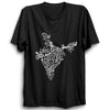 Image of Indian States Map Half Sleeve Black