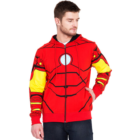 Iron Man Full Print Zipper Hoodie