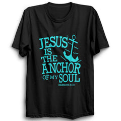 Jesus Is The Anchor-Half Sleeve Black