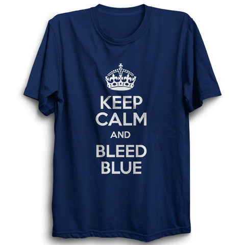 CRIC 56- Keep Calm And Bleed Blue-Half Sleeve-Navy Blue