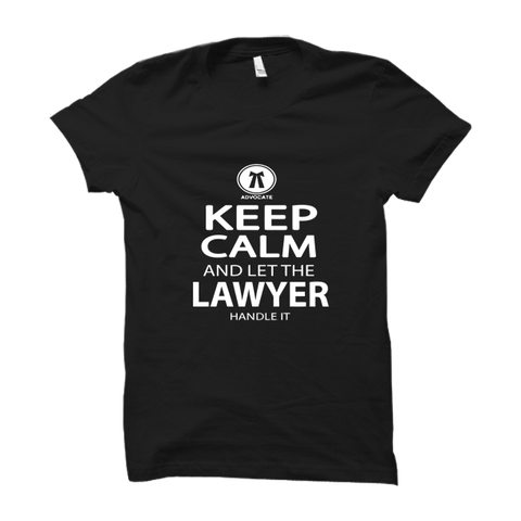 Keep Calm And Let The Lawyer Half Sleeve-Black
