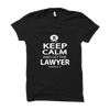 Image of Keep Calm And Let The Lawyer Half Sleeve-Black