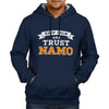 Image of Keep Calm And Trust Namo - Navy Blue Hoodie