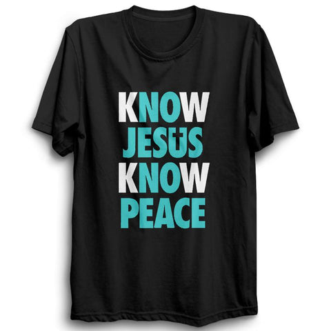 Know Jesus Know Peace -Half Sleeve Black