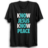 Image of Know Jesus Know Peace -Half Sleeve Black