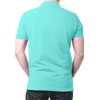 Image of India Flag Polo T-Shirt Sky Blue