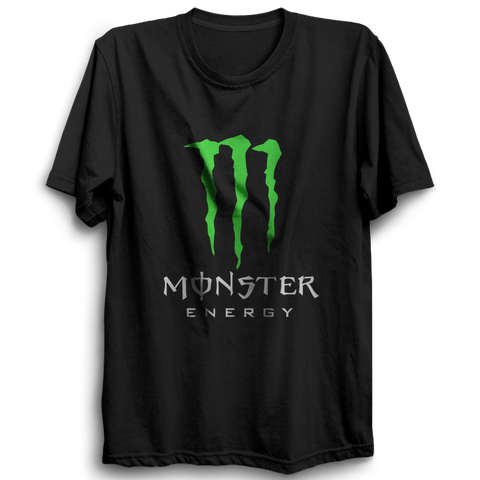 Monster Energy Half Sleeve Black