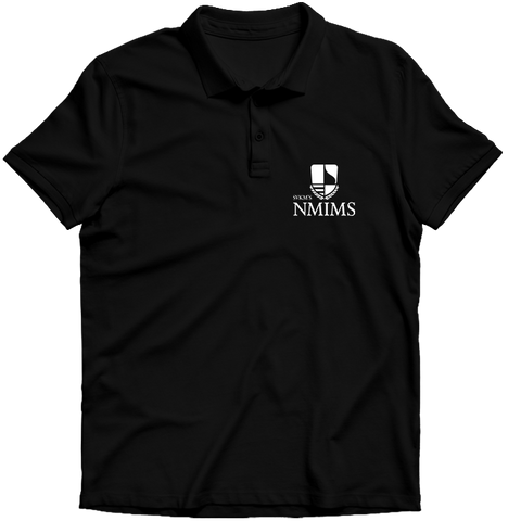 NMIMS Polo T-shirt Black
