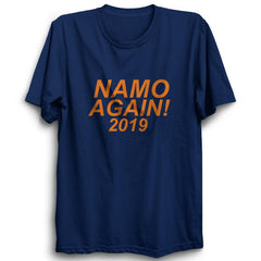 Namo Again 2019 - Half Sleeve Navy Blue