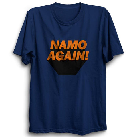 Namo Again - Half Sleeve Navy Blue